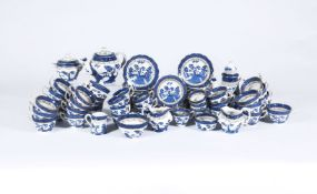 A Booth's pottery 'Real Old Willow' pattern part tea and coffee service