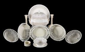 A selection of mostly later English and Continental creamware