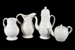 Four items of English creamware