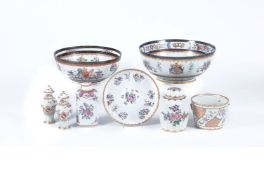 A selection of Chinese Export and famille rose style porcelain of Edme Samson type