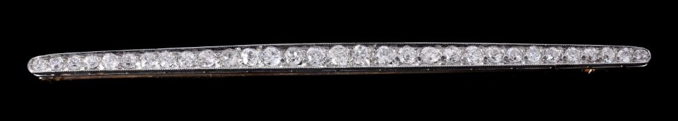 An early 20th century diamond brooch