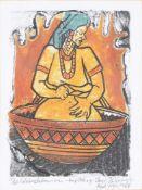 Tayo Tekovi Quaye (Nigerian b. 1954), Gamba; together with two further prints by the same hand (3)