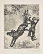 Marc Chagall (French 1887-1985), Ane et le chien, from Les fables de la Fontaine