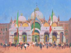 Colin Hatrue (British 1919-2003), St. Mark's Basilica