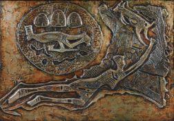 Bruce Obrakpeya (Nigerian b. 1932), Lunar Myths II