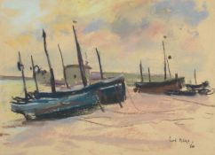 Paul Maze (British 1887-1979), Beached fishing boats
