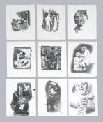 Mayo (Antoine Malliarakis) (Greek 1905-1990), A set of nine studies from 1933, to include Le Atelier