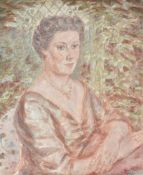 Oliver Hilary Sambourne Messel (British 1904–1978), Portrait of lady seated, said to be Bunty