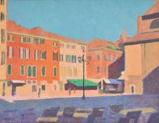 Colin Hatrue (British 1919-2003), Italian Piazza
