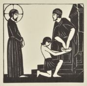 Eric Gill (British 1882-1940), A collection of 22 wood engravings of religious subjects