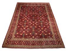 A woven carpet, of Bidjar inspired design