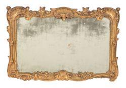 A George II carved giltwood wall mirror, circa 1750