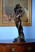 Charles Auguste Fraikin (Belgian, 1817-1893), a patinated bronze group of Venus and Cupid called l'A