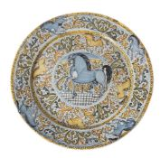 An Italian maiolica charger, probably Castelli, Abruzzo, late 17th/early 18th century