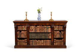 ϒ A George IV rosewood open bookcase, circa 1825