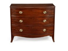 A George III mahogany bowfront chest of drawers, circa 1800