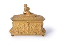 A French gilt bronze casket in Renaissance Revival taste, circa 1875