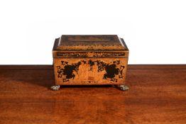 A fine Regency penwork decorated work box, circa 1815