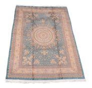 A Qum silk carpet