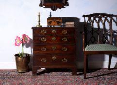 A George II mahogany chest of drawers, circa 1750