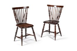 A set six mahogany 'comb' back chairs, early 19th century