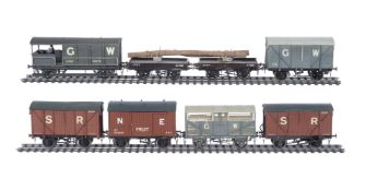 A collection of 10mm scale gauge 1 assorted goods rolling stock