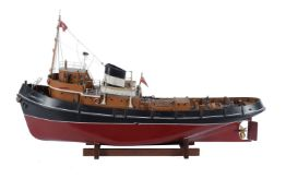 An award winning model of the live steam campaign tug 'Campaigner'