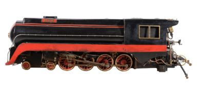 A 5 inch gauge model of a 4-8-2 American Mountain J Class tender locomotive 'Annie'