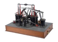 A well engineered model of a Galloway non dead centre live steam engine