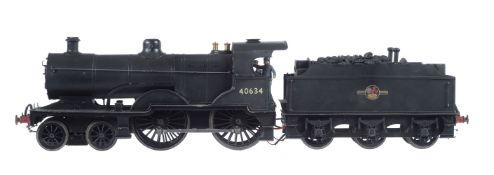 A 10mm scale gauge 1 model of a London Midland and Scottish 2P 4-4-0 tender locomotive No 40634