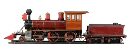A well engineered 7 1/4 inch gauge model of an American Mogul 2-6-0 tender locomotive