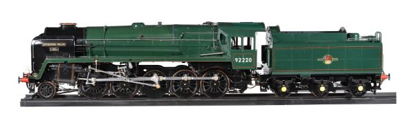 A fine exhibition standard model of a 7 1/4 inch gauge British Railways Class 9F 2-10-0 tender locom