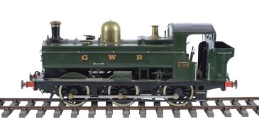 A well engineered 5 inch gauge model of a Great Western Railway pannier tank locomotive No 3799