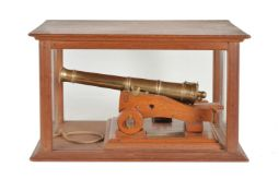 A fine quality model of an Ordnance muzzle loading 6 pounder canon