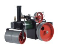 A Mamod SR1 live steam road roller