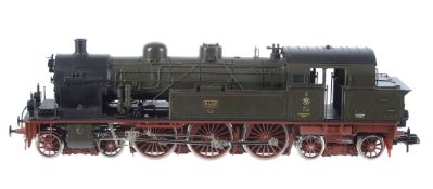 A gauge 1 Märklin model of a German 4-6-4 side tank locomotive No 8402