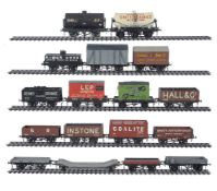 A collection of 10mm scale mixed rake of goods wagons
