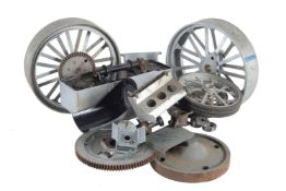 A set of castings and machined parts to build a Plastow's two inch scale model of the Fowler Showman