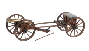 A hand-built model of a Napoleonic canon