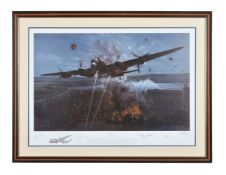 Avro Lancaster and Dambusters - after Phillip West 'Primary Target' photolithographic print