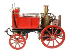 A well-engineered 2 inch scale model of a Shand Mason horse drawn fire engine