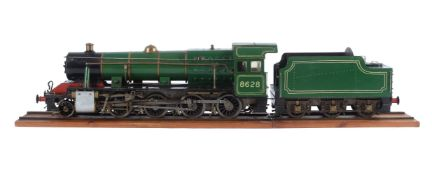 A well engineered 3 ½ inch gauge model of a Class 8F heavy freight 2-8-0 tender locomotive No 8628