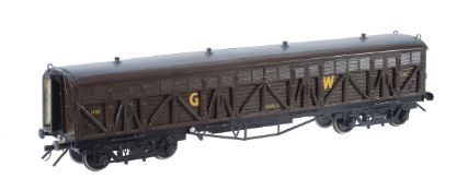 A gauge 1 model of a Great Western 'Siphon G' braced wagon No 1450