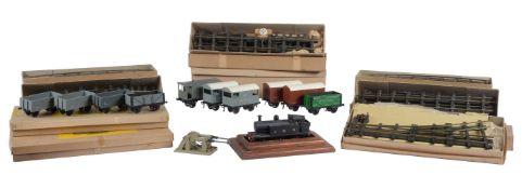 A live steam model of an 0 gauge 0-6-0 LMS side tank locomotive
