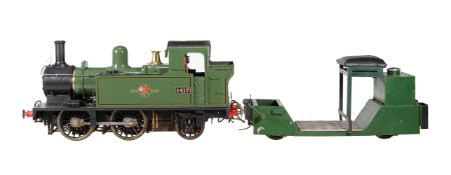 An exhibition standard 7 1/4 inch gauge model of a Great Western Railway 14xx tank locomotive