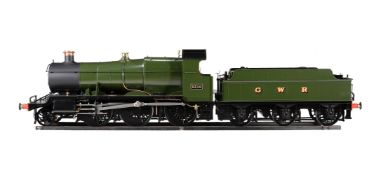 A fine exhibition standard 7 1/4 gauge model of a Great Western Railway 2-6-0 Mogul tender locomotiv