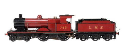 A well engineered 5 inch gauge model of a 4-4-0 Midland Compound tender locomotive No 745 'Maid of K