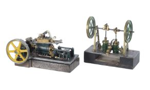 A small horizontal mill engine with central mounted cylinder