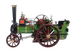 An exhibition quality model of a 3 inch scale Burrell general purpose agricultural traction engine r