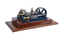 An exhibition standard model of a Stuart Turner twin Victoria horizontal mill engine